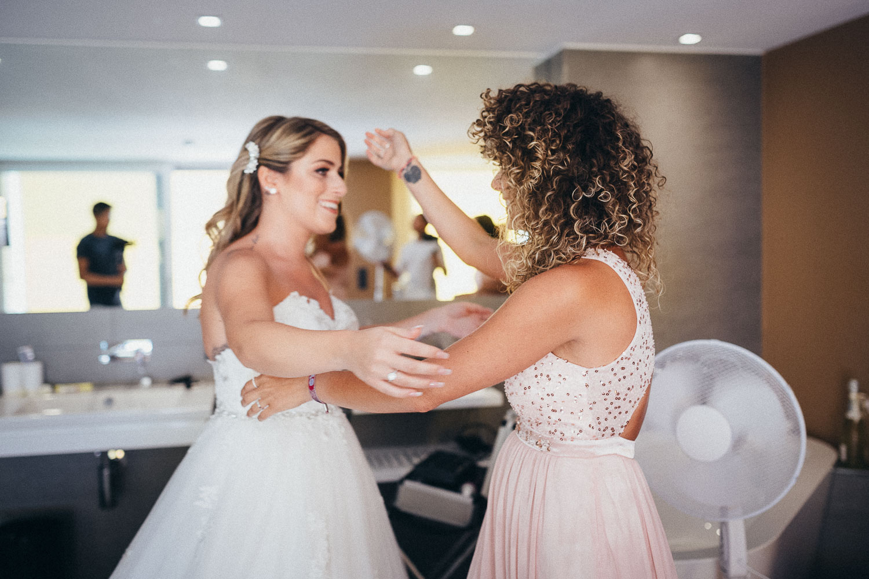 Getting Ready mit der Braut am Hochzeitstag