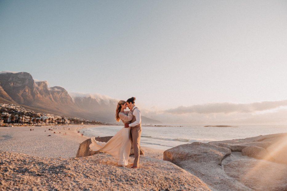 boho beach wedding capetown beach