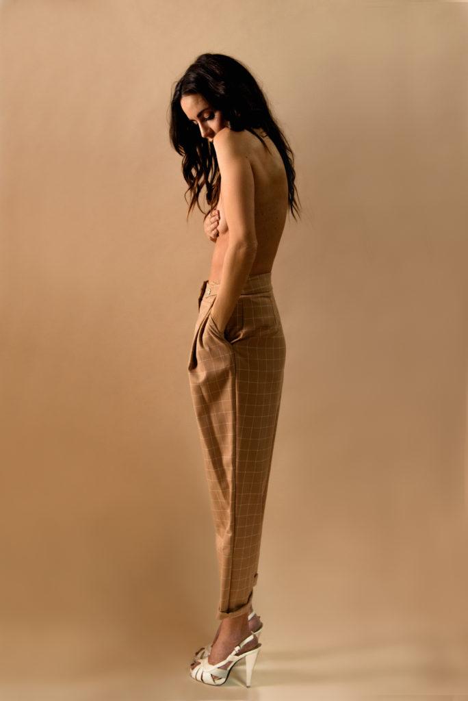 Studio Fashion Shooting Nadine Vinzens und Fotografin Stefanie Chareonbood